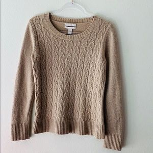 Banana Republic Cashmere And Wool Ribbed Sweater M